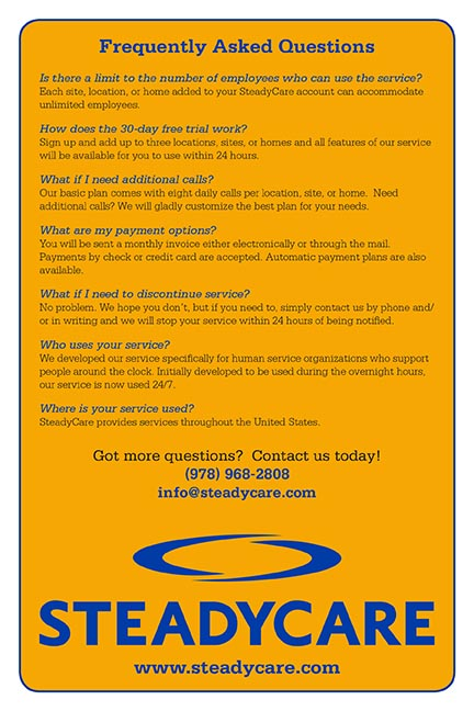 Frequently Asked Questions Flyer