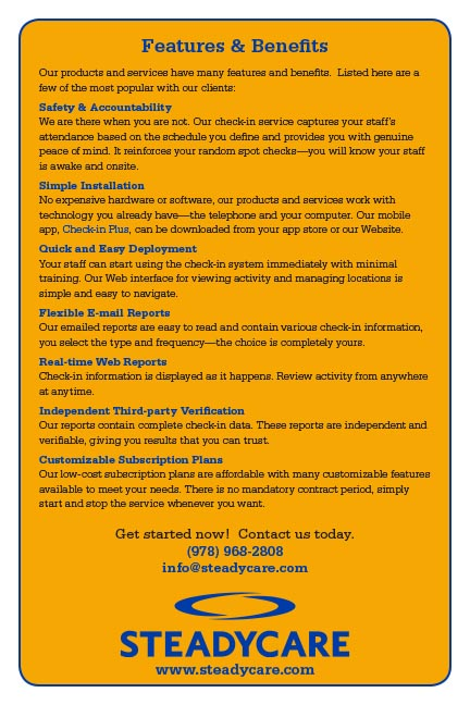 Features & Benefits Flyer